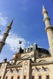 Outside view of Selimiye Mosque Built between 1569 and 1575 in city of Edirne, Turkey royalty free stock photo