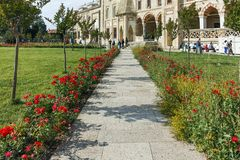 Outside view of Selimiye Mosque Built between 1569 and 1575 in city of Edirne, Turkey stock images