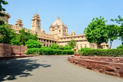 Outside view of Umaid Bhawan Palace of Rajasthan Stock Images