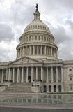 Outside View of US Capitol in Washington DC Royalty Free Stock Photo