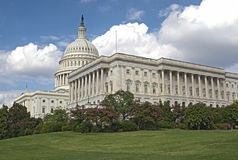 Outside View of US Capitol in Washington DC Royalty Free Stock Photography