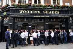 Outside Viw of London Pub Stock Photo