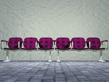 Outside waiting-room - 3D render Royalty Free Stock Photography