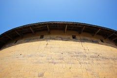 Outside wall of Hakka earth building Stock Photos