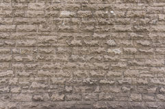 Outside wall made of bricks, texture background Royalty Free Stock Photography