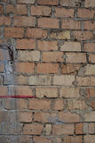 Outside wall, plaster and bricks Royalty Free Stock Image