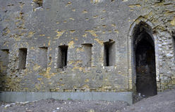 Outside wall of a ruined castle Royalty Free Stock Image