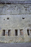 Outside wall of a ruined castle Royalty Free Stock Photo