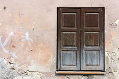 Outside wall with windows Royalty Free Stock Photos