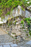 The outside walls of the old. Here is the screen Village out of the corner of a wall, which is located in the southern part of Anhui province China. Building the Stock Photo