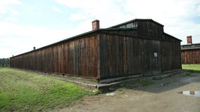 Outside was the kind of barracks in which Jews who were killed by Germans