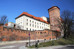 Outside the wawel Royalty Free Stock Images