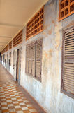 Outside więzienie Khmer Rouge szkoła średnia S-21 Obrazy Royalty Free