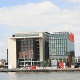 Outside widok Amsterdam Środkowa biblioteka Fotografia Royalty Free
