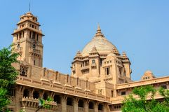 Outside widok Umaid Bhawan pałac Rajasthan Zdjęcia Stock