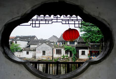 Outside the window. S of a small town south of Yangtze River scenery Stock Photography