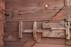 Outside wooden gate. Stock Photo