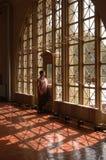 The Outside World. Peeking out onto Ellis Island Royalty Free Stock Photos