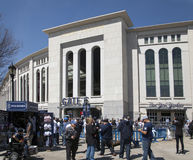 Outside Yankee Stadium in the Bronx New York. BRONX, NEW YORK, USA - APRIL 10: Outside Yankee Stadium in front of Gate 6.  Taken April 10, 2017 in New York Stock Images