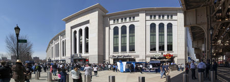 Outside Yankee Stadium in the Bronx New York. BRONX, NEW YORK, USA - APRIL 10: Outside Yankee Stadium in front of Gate 6.  Taken April 10, 2017 in New York Royalty Free Stock Photo