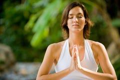 Outside Yoga Stock Photo
