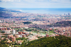 Outskirt districts in Barcelona from mount Stock Photos