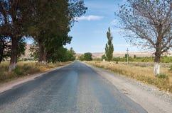 Outskirts of Bishkek. Kyrgyzstan Beautiful view of the mountain road royalty free stock photo