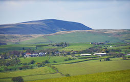 On the outskirts of Burnley stands Pendle Hill in Lancashire Stock Photo