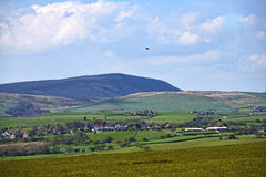 On the outskirts of Burnley stands Pendle Hill in Lancashire Stock Image