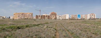 Outskirts city of Aktobe. Outskirts of the city of Aktobe. Western Kazakhstan. Panorama Royalty Free Stock Images