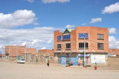 The outskirts of the city of La Paz Stock Image
