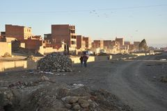 The outskirts of the city of La Paz Stock Photography