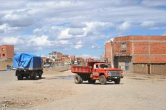 The outskirts of the city of La Paz Royalty Free Stock Photos