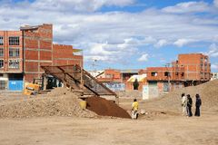 The outskirts of the city of La Paz. Royalty Free Stock Photography
