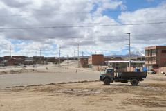 The outskirts of the city of La Paz. Royalty Free Stock Image