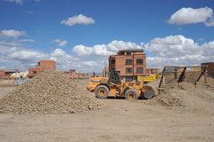 The outskirts of the city of La Paz. Royalty Free Stock Photo