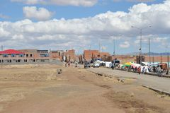The outskirts of the city of La Paz Stock Photos