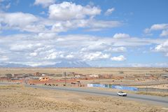 The outskirts of the city of La Paz Royalty Free Stock Image