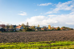 On the outskirts of a Dutch village in autumn Stock Image
