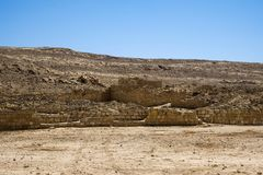 Outskirts of excavations of the Nabatean city of Mamshit. Israel, 1st century BC Stock Photography