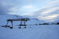 On the outskirts of Pyramiden, Svalbard. Stock Images