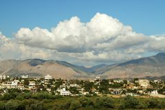 Outskirts of Saranda, south Albania Stock Photography
