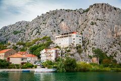 Outskirts of the small town Omis Stock Images