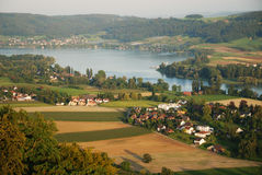 Outskirts of Stein am Rhein from above. Royalty Free Stock Photo