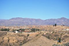 The outskirts of Sucre. Stock Photo
