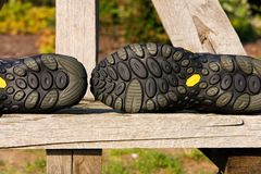Outsole shoes. Outsole sports shoes designed to nature Royalty Free Stock Photo