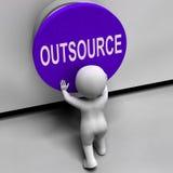 Outsource середины фрилансер или независимый кнопки иллюстрация штока
