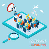 Outsource best professionals for your business Royalty Free Stock Images