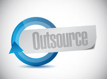 Outsource cycle sign illustration Royalty Free Stock Photography