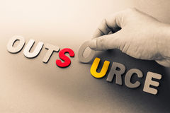 Outsource stock image